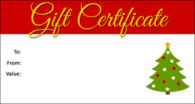 salon gift certificate template small christmas template