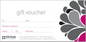 salon gift certificate template voucher