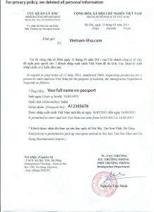 sample application for employment vietnamvisa approval letter copy