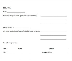 sample auto bill of sale auto bill of sale pdf
