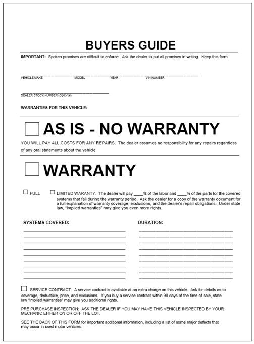 sample auto bill of sale