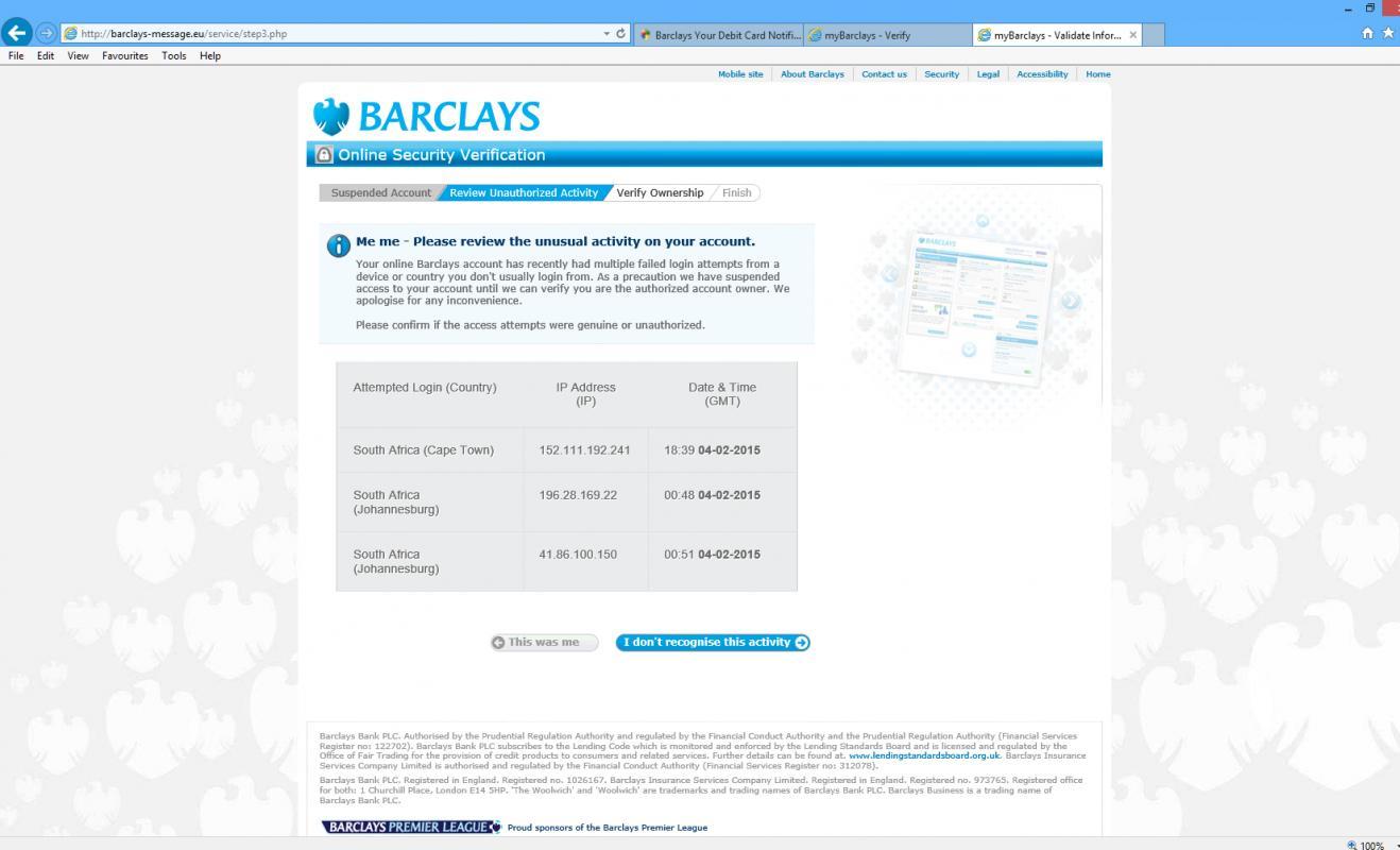 sample bank statement