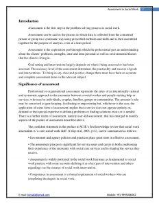 sample behavior intervention plan assessment in social work