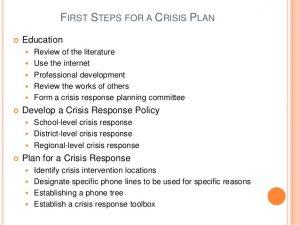 sample behavior intervention plan crisis intervention in the schools