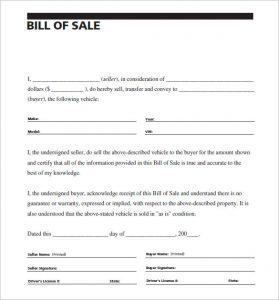 sample bill of sale for car carscom vehivle bill of sale of car