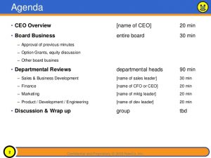 sample board meeting minutes sample board presentation