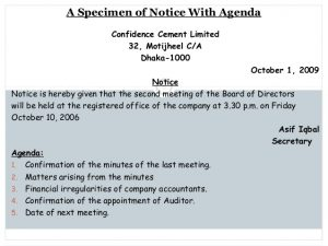 sample board meeting minutes noticeagendaminutes