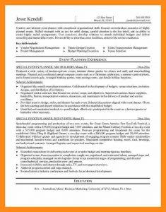sample budget planning event coordinator resume objective event planner resume sample key skills include jesse kendall