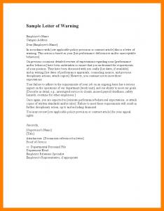 sample budget proposal staff warning letter