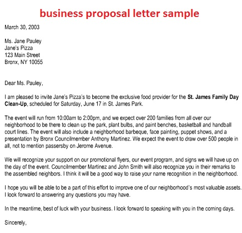 sample business proposal