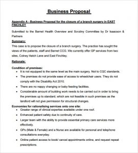 sample business proposal business proposal template free