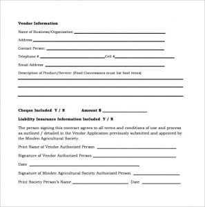 sample catering contract free download vendor contract template