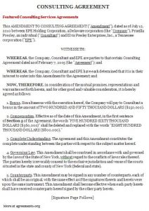 sample consultation agreement consulting agreement