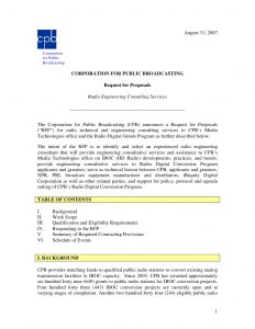 sample consultation agreement radio engineering consulting services request for proposal
