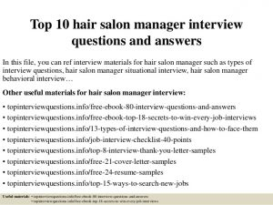 sample consultation agreement top hair salon manager interview questions and answers