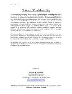 sample contractor agreement morgan amp westfield sample selling memorandum