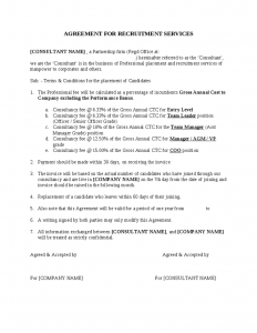 sample contracts for services agreement for recruitment services