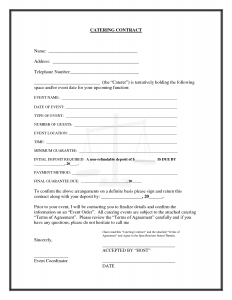 sample contracts for services uncategorized interesting blank catering contract template example with blank and fillable detail information