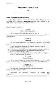 sample corporate resolution laboratory cooperative article of cooperation and by laws template