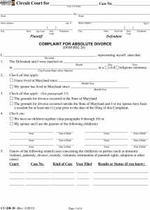 sample custody agreement maryland separation agreement template