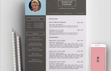 sample cv template interior designer resume template