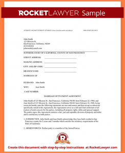 sample divorce paper sample divorce paper sample divorce settlement agreement form template