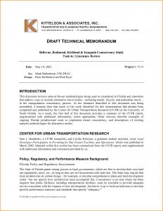 sample divorce paper technical memo format