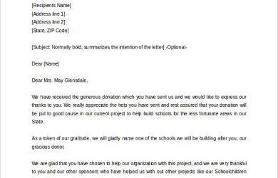 sample donation letter memorial donation letter template sample word format