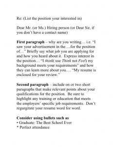 sample email to hiring manager winning blueprint to the perfect resume cover letter