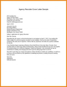 sample email to recruiter email to recruiter sample