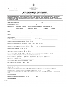 sample employment application sample employment application form