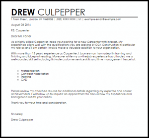 sample employment contract carpenter