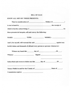 sample employment contract vehicle bill of sale form mississippi l