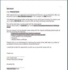 sample employment offer letter offer letter sample template resume builder within offer letter sample template