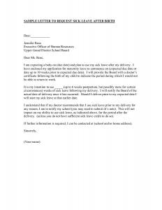 sample employment offer letter sick leave letter