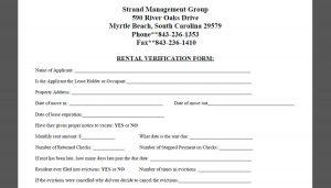 sample employment verification letter strand rental verification form x