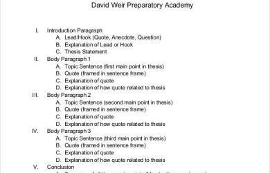 sample essay outline example of a argument essay outline