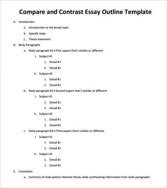 sample essay outline