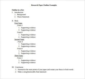 sample essay outline sample research essay outline template download