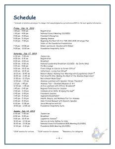 sample event program leadership conference registration packet