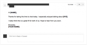 sample follow up email after interview status emailtemplate