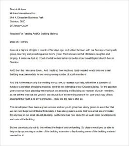 sample fundraising letter sample fundraising letter for church plant word format