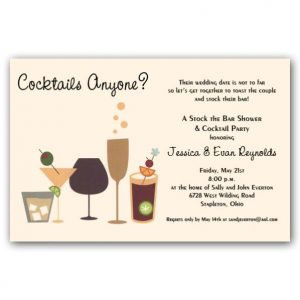 sample graduation invitations cocktails anyone stock the bar shower invitations p awn z