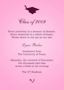 sample graduation invites kids graduation invitations