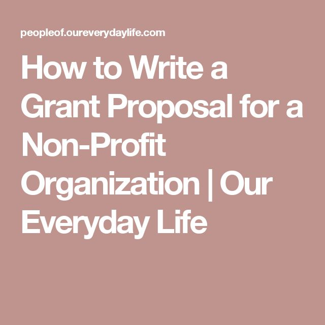 sample grant proposal non profit