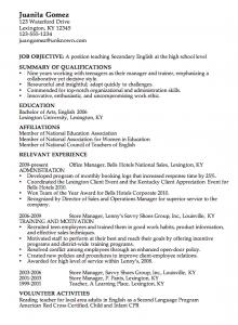 sample high school resume combination resume example english teacher csusanireland