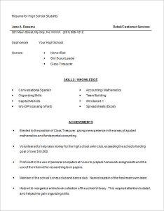 sample high school resume high school resume examples