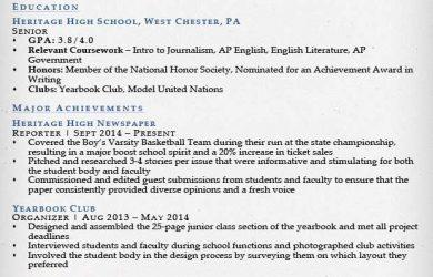 sample high school resume high school resume sample