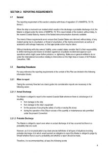 sample incident report sopep sample plan