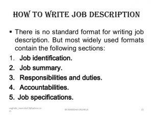 sample job descriptions job descriptions